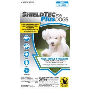 SHIELDTEC PLUS FOR DOGS 4 PACK - 5 TO 15 LBS-08642437