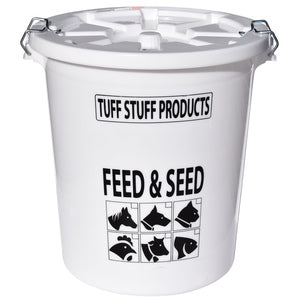 PLASTIC FEED & SEED STORAGE PAIL 17-GALLONS/80-LBS-13010408