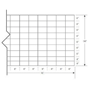 "FENCE PANEL CATTLE - GAUGE 6-WIRE 50"" X 16FT-14200535"