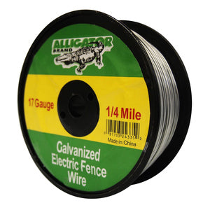 17 GAUGE 1/4 MILE GALVANIZED ELECTRIC FENCE WIRE-14224335