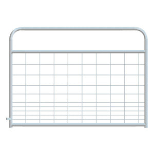 MESH GATE HOG ROUND CORNER 4FT - GALVANIZED-14230270