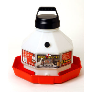 PLASTIC POULTRY AUTOMATIC WATERER 3 GALLON-22612034