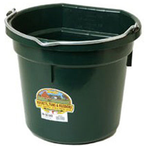 MILLER FLAT BACK 20 QUART PLASTIC BUCKET - GREEN-22665282