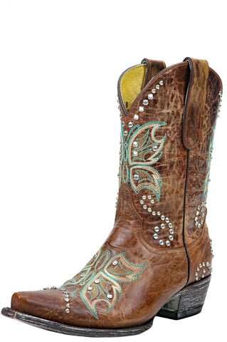 "YIPEE KI YAY BY OLD GRINGO SANTA 10"" BRASS BOOTS- YL027-4"