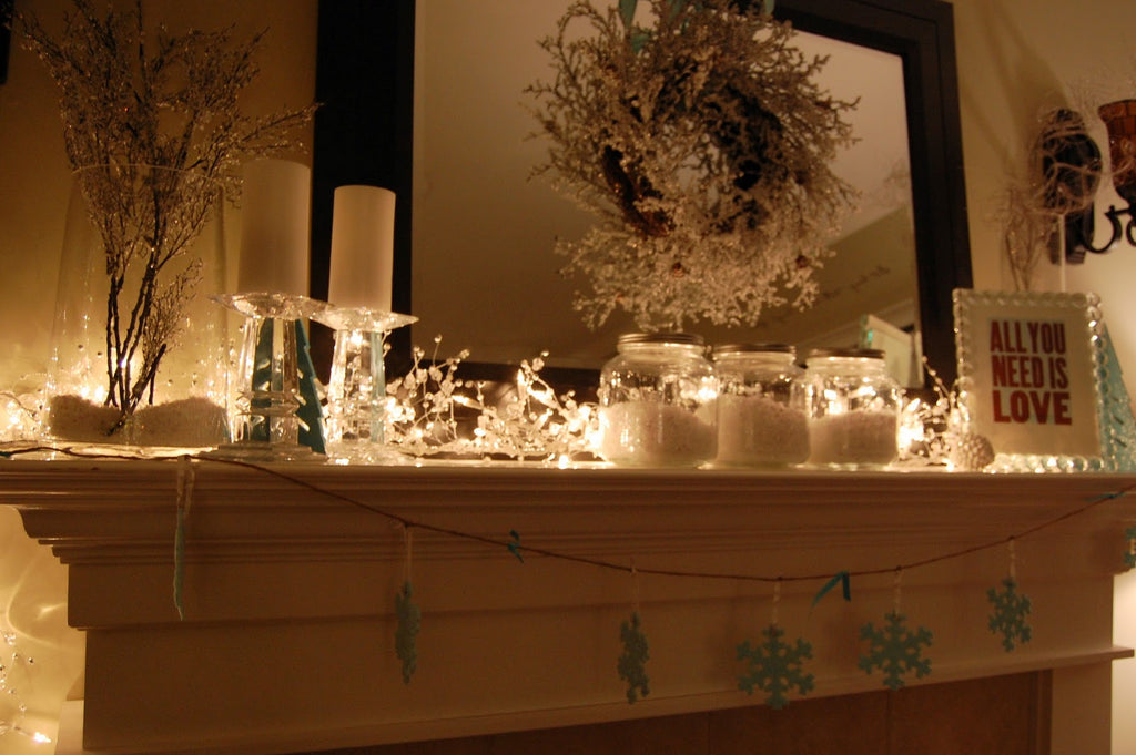 Warm, Candle Lit Mantels