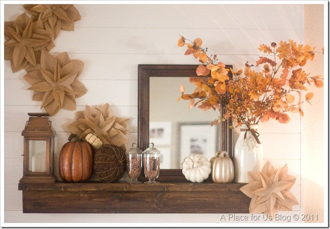 More inspiration for your autumn mantel