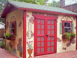 Screened in garden sheds. That you could sleep in too!!