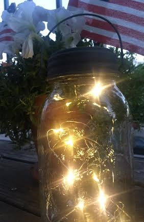 Fire flies in a jar.