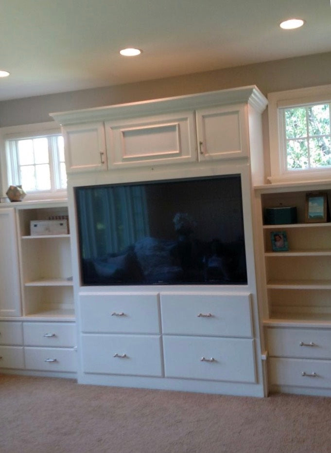 Retro fitting a TV cabinet for a flat screen