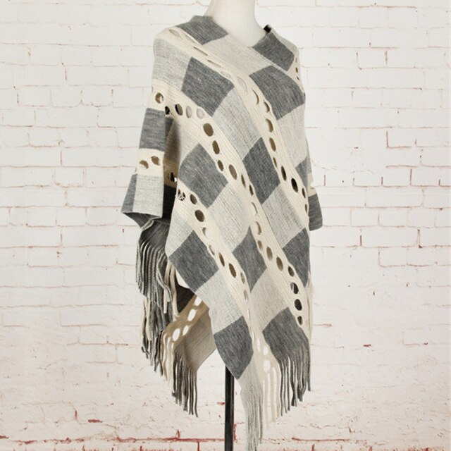 Playful Patterned Poncho