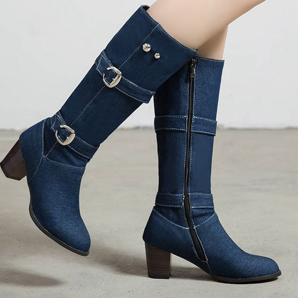 Blue Jean and Buckle Boots
