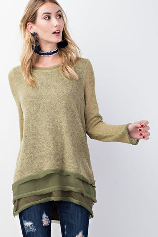 Olive You Chiffon Top