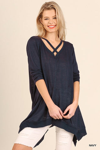 Criss Cross Trapeze Tunic