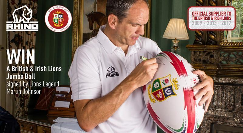 WIN an official British & Irish Lions jumbo ball signed by Martin Johnson