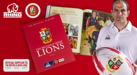 Martin Johnson, signed ball and book