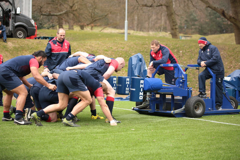 England make good of the Rhino Dictator scrum machine