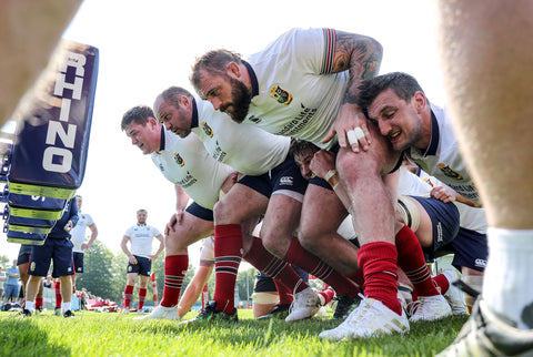 British & Irish Lions hit the Rhino Powa Scrum Sled
