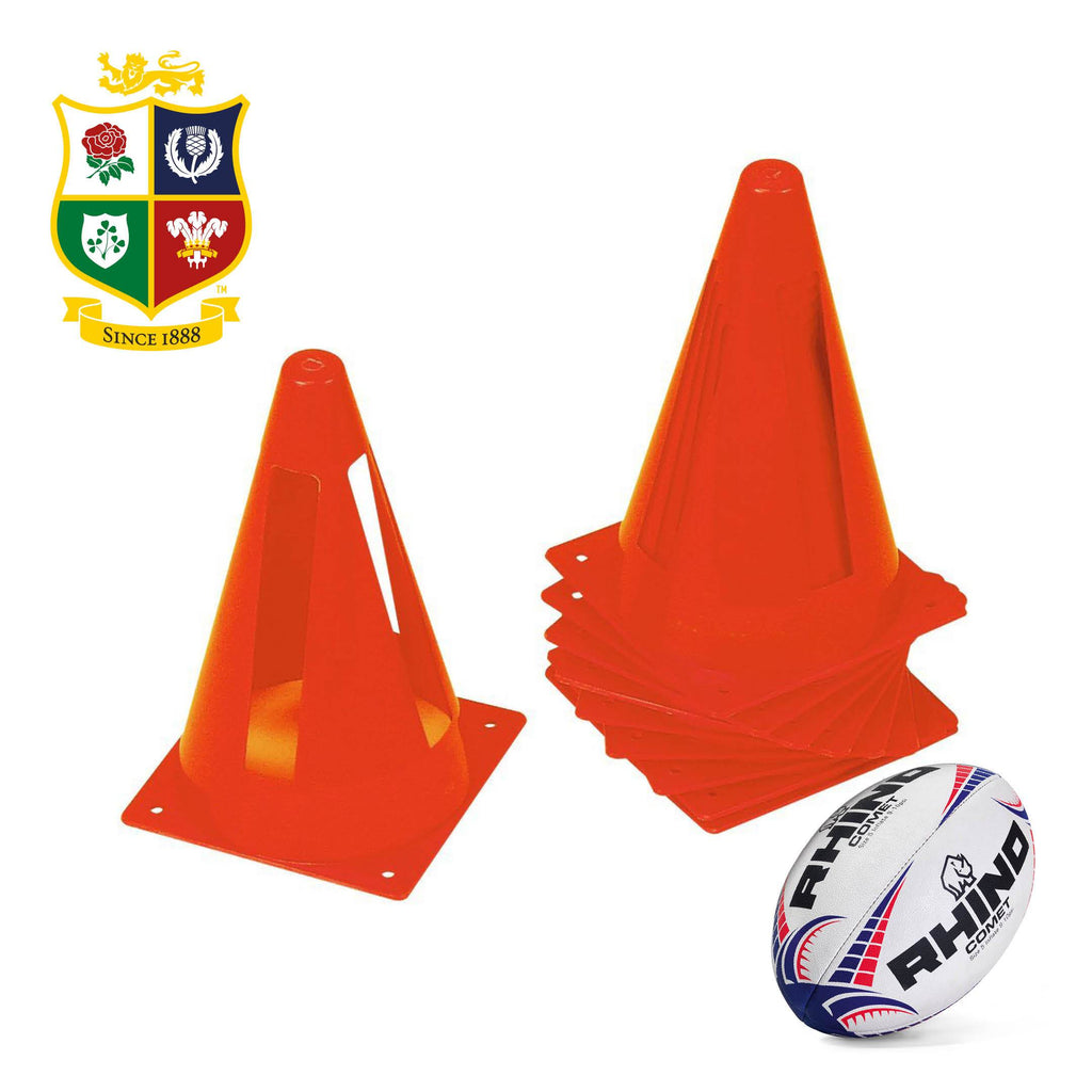 Set of 10 Flexicones Training Cones