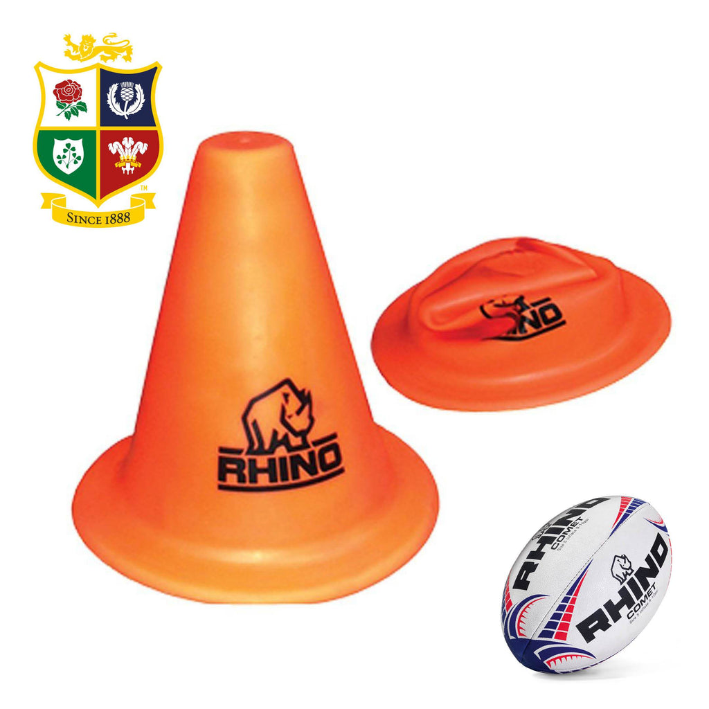 Set of 10 Rhino Soft Training Cones