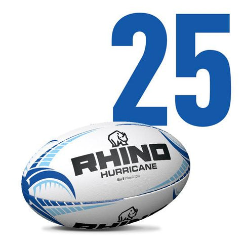 Box of 25x Hurricane Rugby Union Training Balls - Rhino Direct