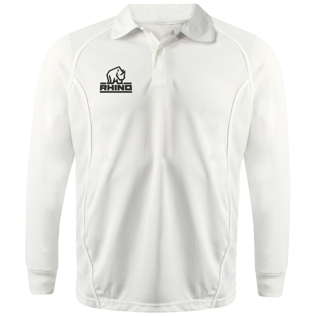 Rhino Cricket Performance Long Sleeve Polo Shirt