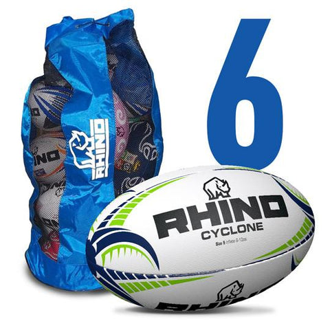 6x Cyclone Training Ball Bundle Pack - Rhino Direct