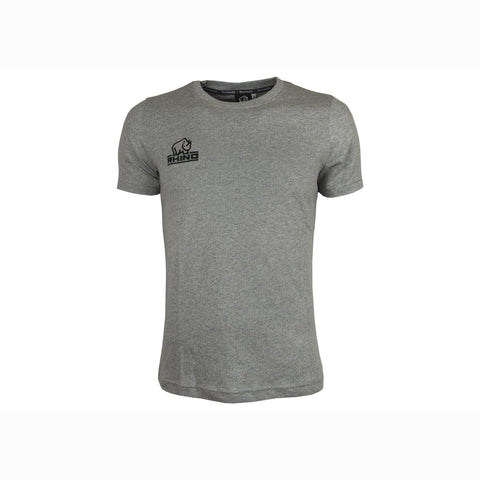 Mens Rhino Embriodered Chariot T-shirt - Light Grey