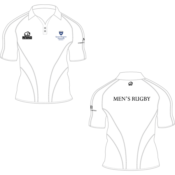 Queen Margaret University Men's Rugby Apollo Polo Shirt - rhino-direct-2.myshopify.com