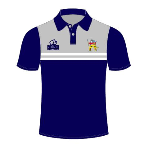 Hunslet Warriors Senior Polo Shirt - rhino-direct-2.myshopify.com
