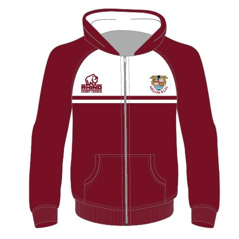 Millom RLFC Junior Full Zip Hoodie - rhino-direct-2.myshopify.com