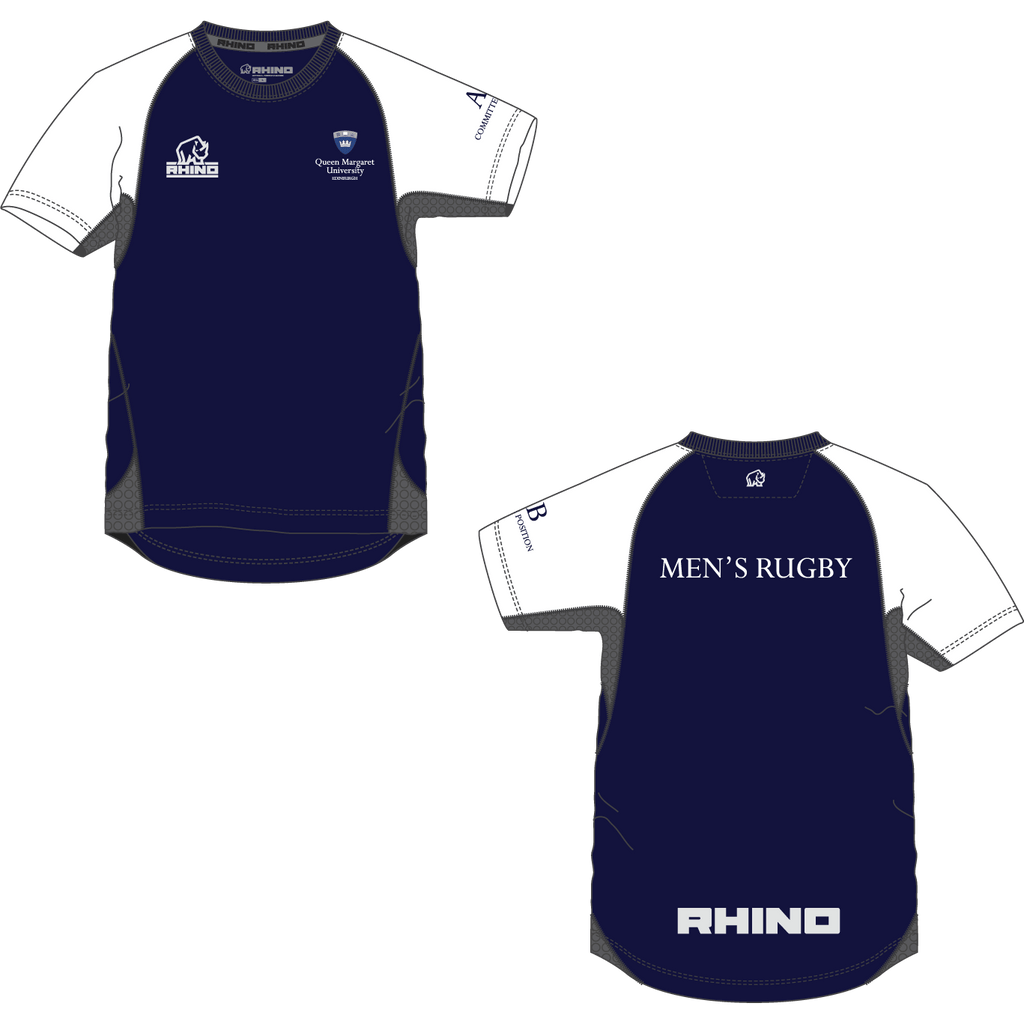 Queen Margaret University Men's Rugby Mace T-Shirt - rhino-direct-2.myshopify.com