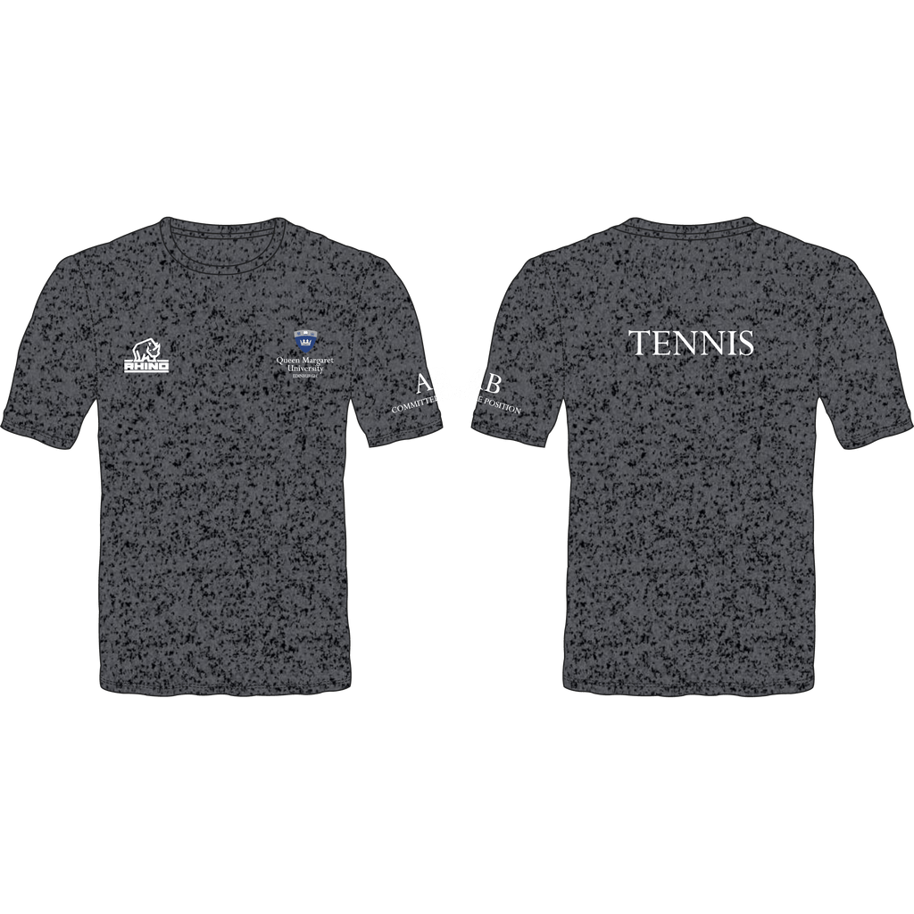 Queen Margaret University Tennis Men's Performance T-Shirt - rhino-direct-2.myshopify.com