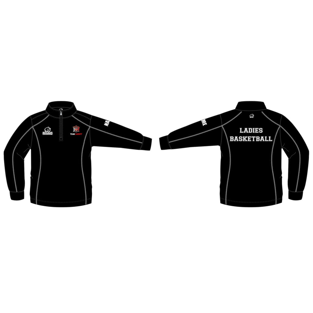 Cardiff Uni Ladies Basketball Seville 1/4 Zip Midlayer