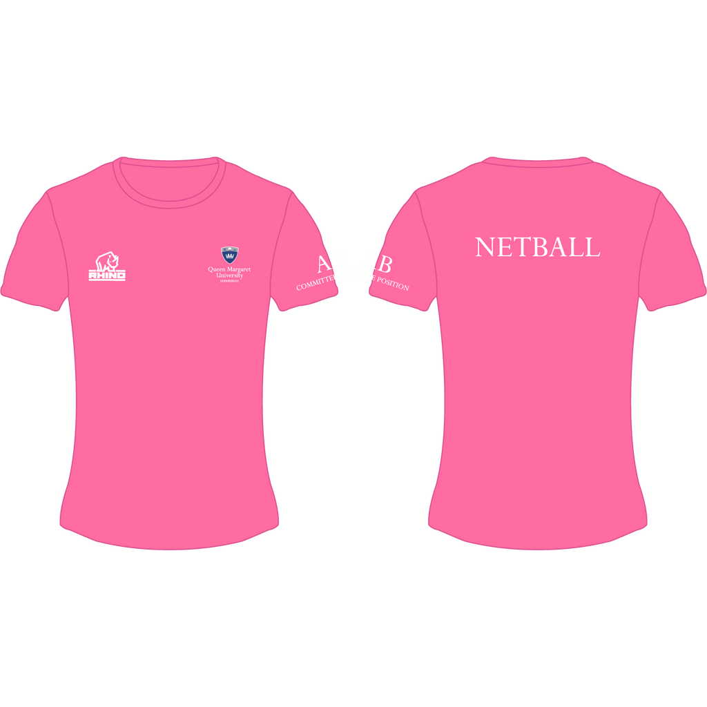 Queen Margaret University Netball Performance T-Shirt