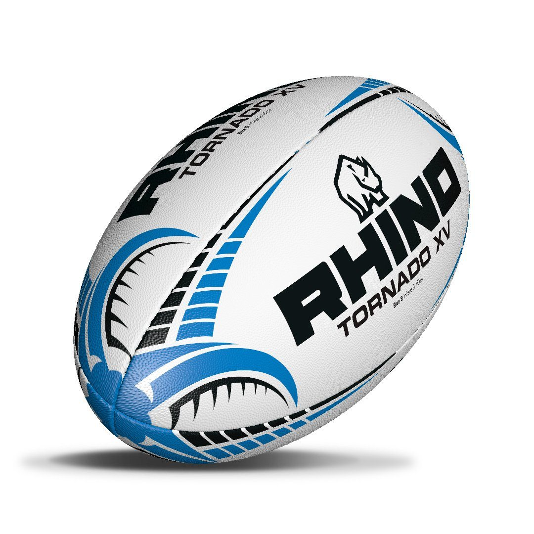 Only Sports Gear Rhino Official Tornado XV Rugby Ball White Size 4-5