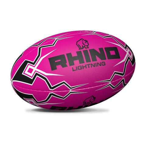 Lightning Pink Touch Rugby Ball