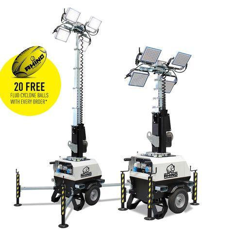 Rhino X-Chain (110v) (LED-4) - Portable Mobile Lighting Tower