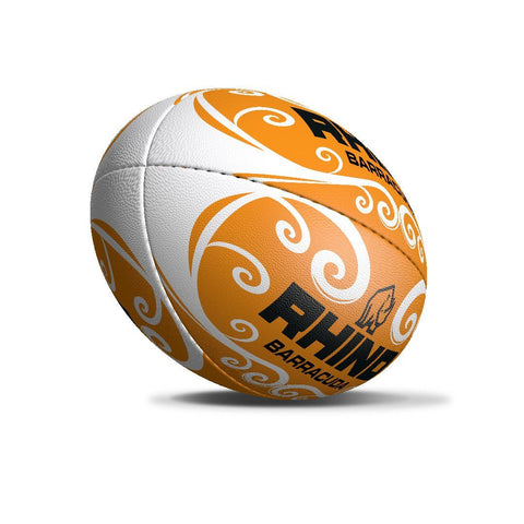 Barracuda Orange Beach Rugby Ball - Size 4