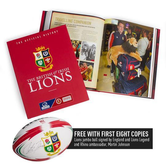 The Official History of the British & Irish Lions book with FREE SIGNED Lions Jumbo ball