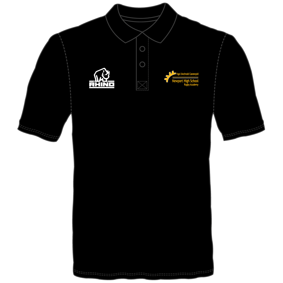 Newport High School Rugby Academy Year 13 Panelled Polo Shirt