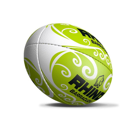 Barracuda Green Beach Rugby Ball - Size 4