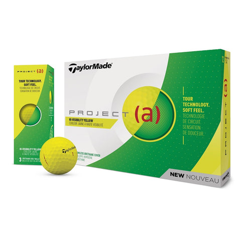 Taylor Made Project (a) Yellow Logo Golf Balls