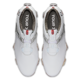 FootJoy Tour X Men's Shoes BOA White/Grey/Red Trim