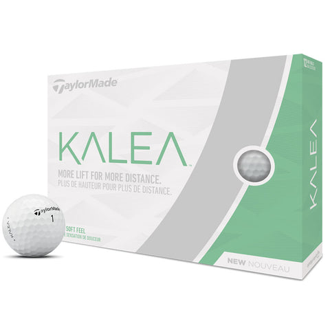 Taylor Made Kalea White Dozen Logo Golf Balls