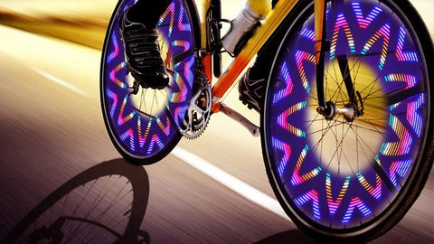 NEW ULTRA BRIGHT 96-LED WHEEL SPOKE LIGHT - BE A DAY & NIGHT RIDER-BE SEEN ON/OFF ROAD-RUGGED WATERPROOF MODEL-32 LIGHT PATTERN OPTIONS TO CHOOSE FROM + free shipping