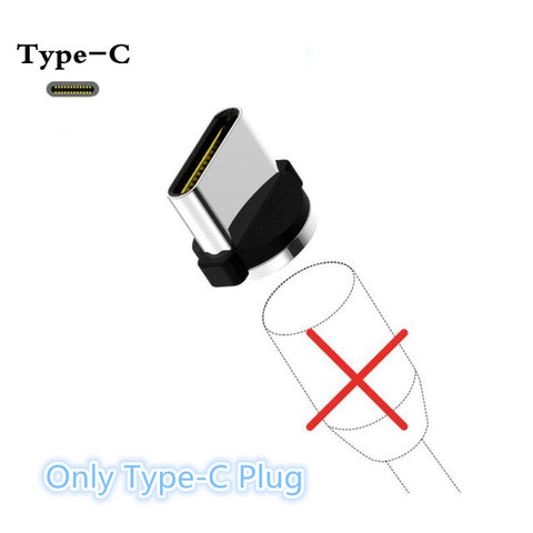 JUSFYU LED Magnetic Charge Cables for iPhone Samsung Mobile Phone 2.4A Fast Charging  Magnet Charger Micro USB Cable Type C Wire