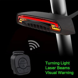 Bicycle Wireless  Rear Light Bike Turn Signal Remote Control Safety LED Warning Taillight USB Chargeable With Battery