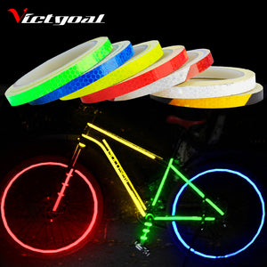 VICTGOAL Bike Stickers Decals Reflective Stickers Strip Bicycle Reflective Tape Sticker Bicycle Wheel Bike Bicycle Accessories