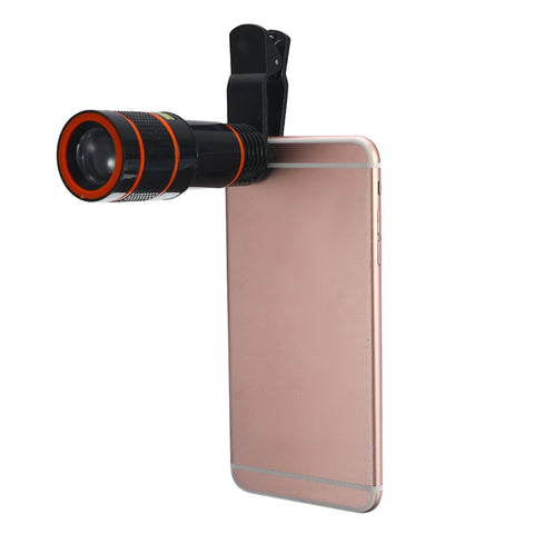 Smartphone 12 Zoom Optical Telescope Camera Telephoto HD Focus Cell Phone Lens