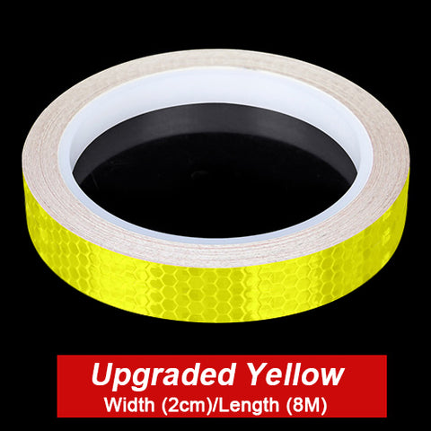 Image of VICTGOAL Bike Stickers Decals Reflective Stickers Strip Bicycle Reflective Tape Sticker Bicycle Wheel Bike Bicycle Accessories